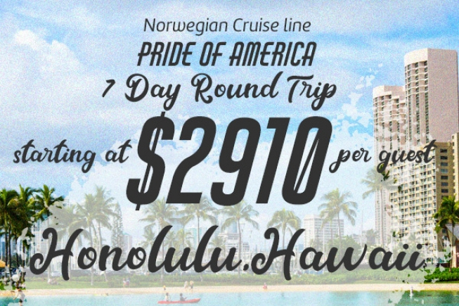 7 Day Round Trip Honolulu Hawaii