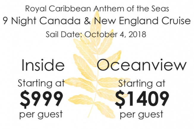 9 Night Canada and New England Cruise