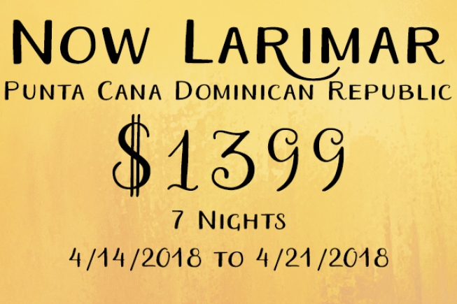 7 Nights  Now Larimar in Punta Cana